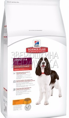 Hill's Science Plan Canine Adult Medium Advanced Fitness Chicken