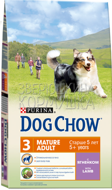 Dog Chow Mature Adult 5+ With Lamb