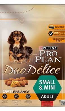 Pro Plan Duo Delice Adult Small & Mini Rich in Beef with Rice