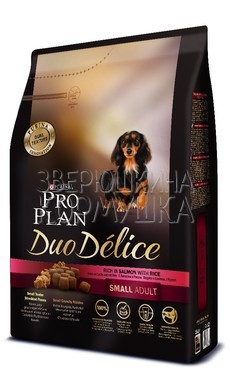 Pro Plan Duo Delice Adult Small & Mini Rich in Salmon with Rice