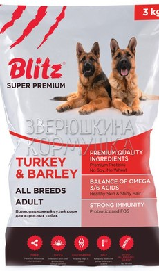 Blitz Adult All Breeds Turkey & Barley
