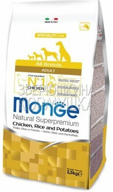 Monge Dog Speciality Adult Chicken, Rice & Potatoes